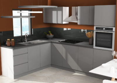Handleless Grey Pebble kitchen