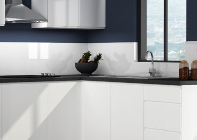 Handleless Grey Pebble kitchen zoom